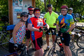 Would you bike with these folks - Roxanne, Bill, Steve, Hunt, Tony and Bob - at Partlow's