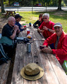 Post hike picnic - South Run Recreation Center