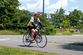 Tony crossing Lawson Rd on W&OD - Leesburg