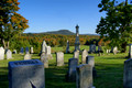 Cemetery and Pease Mt - Charlotte VT