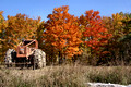 Tractor and foliage - Rt 20