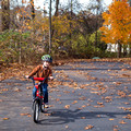 Biking on the driveway