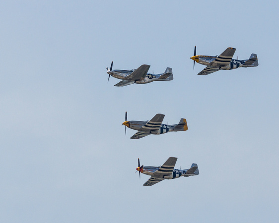 Another North American P-51 Mustang formation