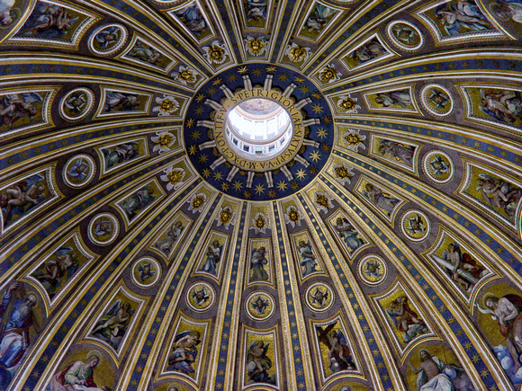 Dome interior at St Peters - Rome, Italy