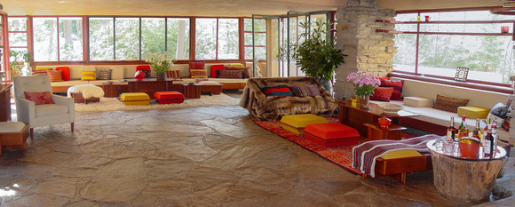 Fallingwater living area pano - using MS Ice
