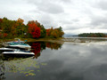 Cloudy day on Brant Lake NY