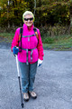 Barb ready to hike - Canaan Valley - Wednesday AM