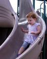 Hayley down the slide